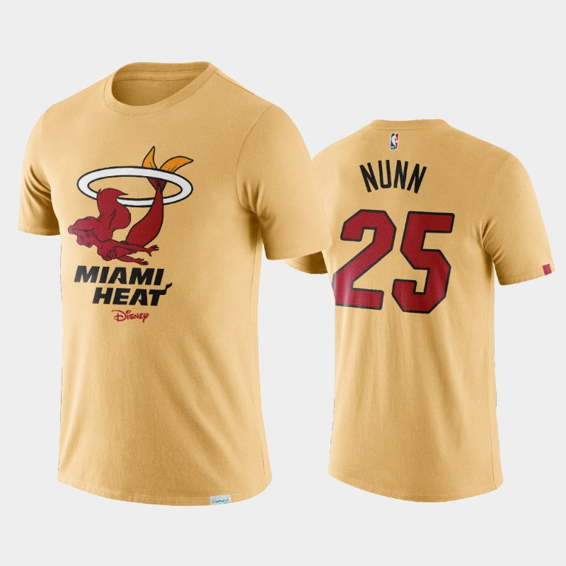 Miami Heat Kendrick Nunn Disney X NBA Logo T-Shirt Cream
