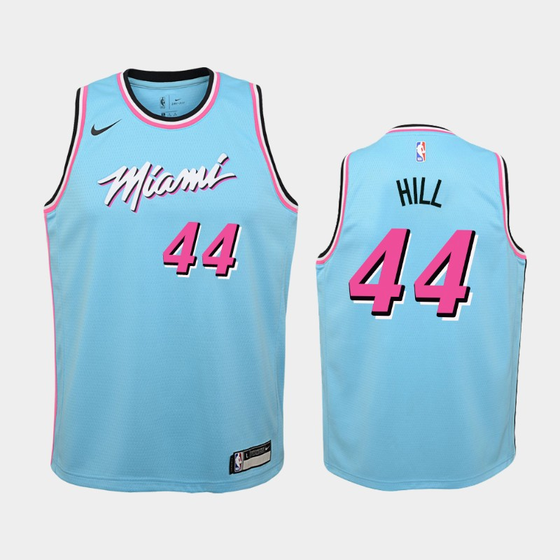 Youth Solomon Hill 2019-20 City Blue Jersey - Miami Heat
