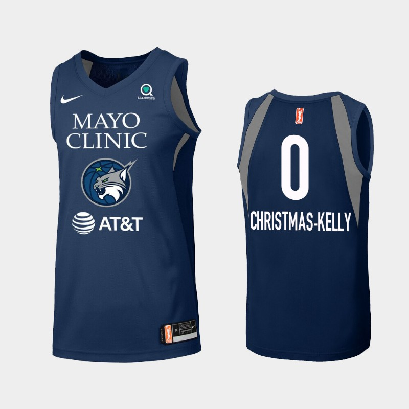 WNBA Minnesota Lynx Karima Christmas-Kelly Blue 2019 Primary Icon Jersey