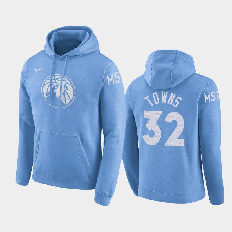 Minnesota Timberwolves Karl-Anthony Towns City Pullover Hoodie - Blue