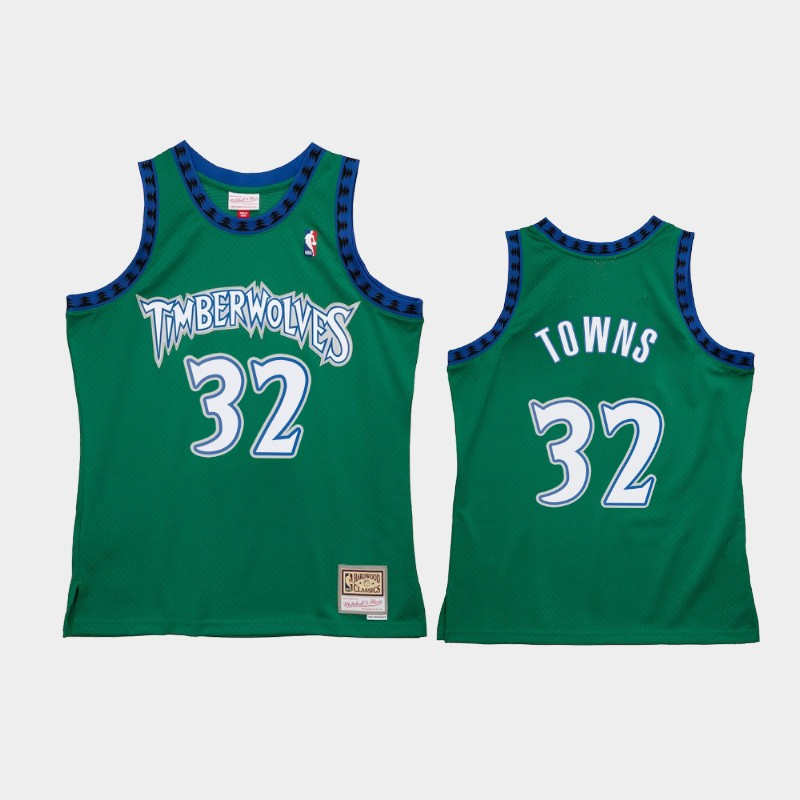 Minnesota Timberwolves Karl-Anthony Towns Reload 2.0 Green Jersey
