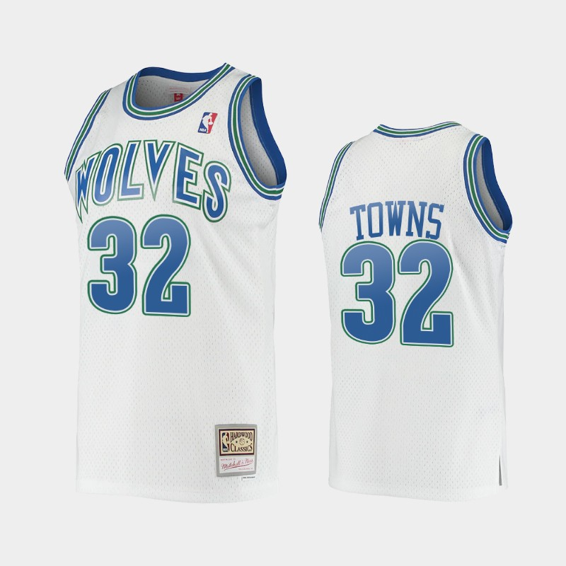Minnesota Timberwolves Karl-Anthony Towns Hardwood Classics White Jersey