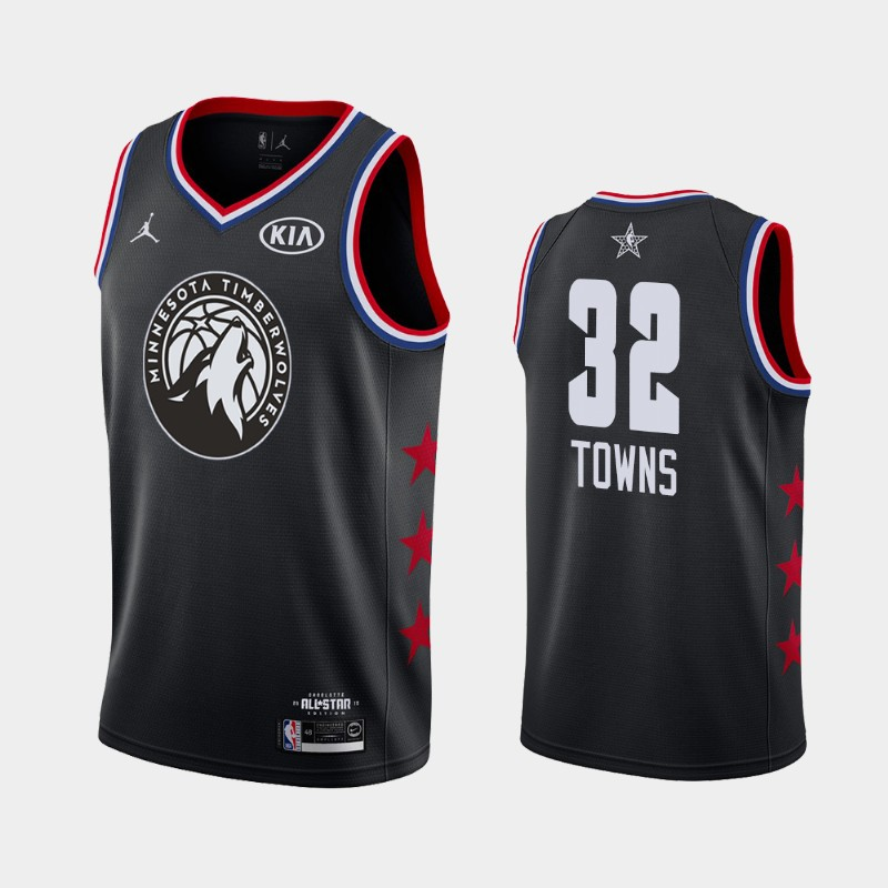 Karl-Anthony Towns Minnesota Timberwolves Black 2019 All-Star Jersey