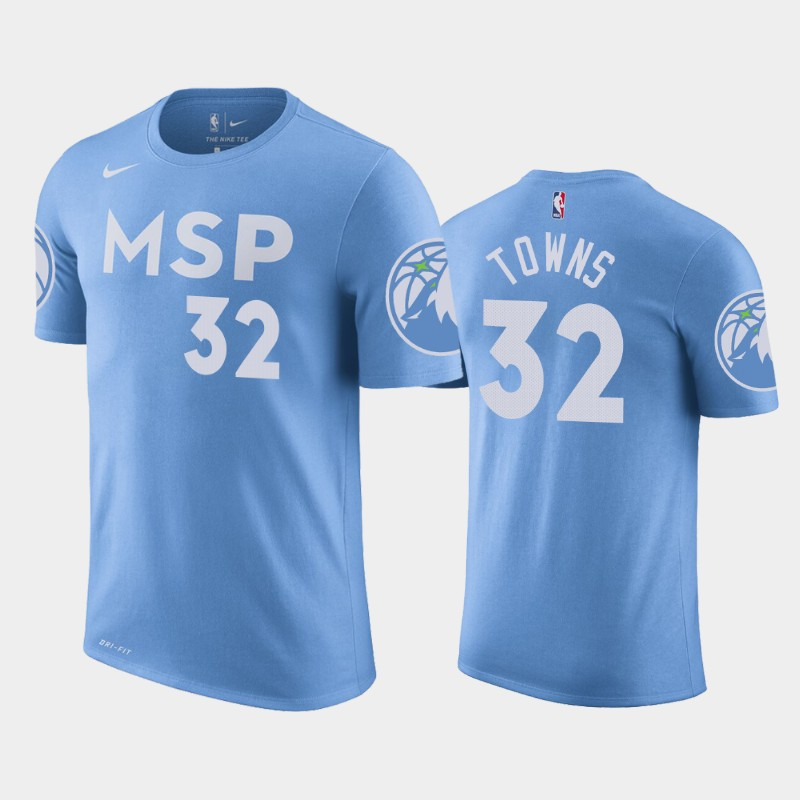 Karl-Anthony Towns Minnesota Timberwolves Blue City Name & Number T-Shirt
