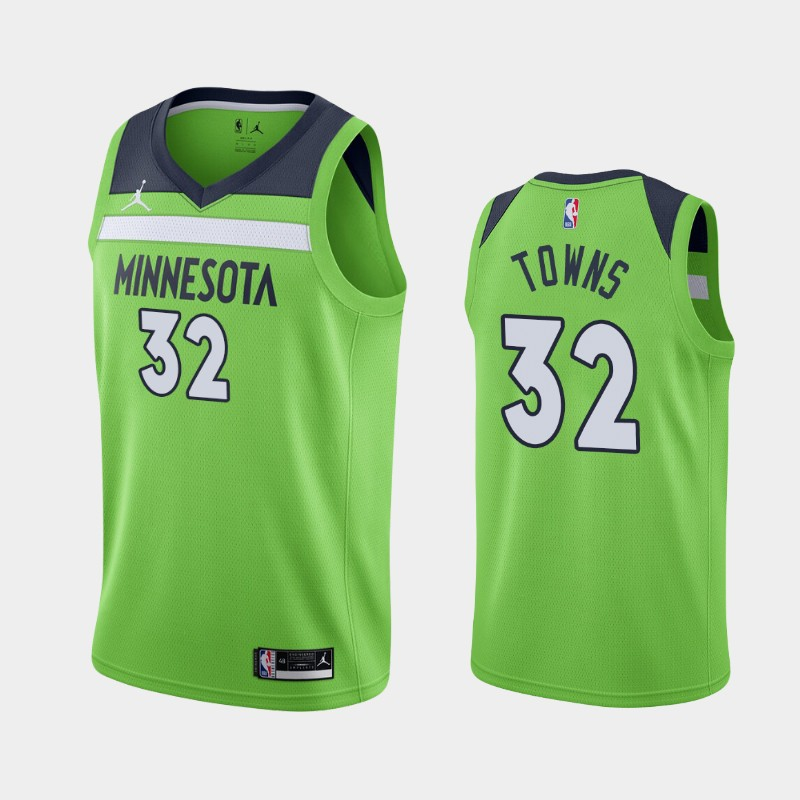 Minnesota Timberwolves Karl-Anthony Towns 2020-21 Statement Jersey - Green