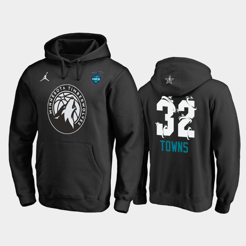Karl-Anthony Towns 2019 All-Star The Buzz Side Sweep Pullover Hoodie - Black