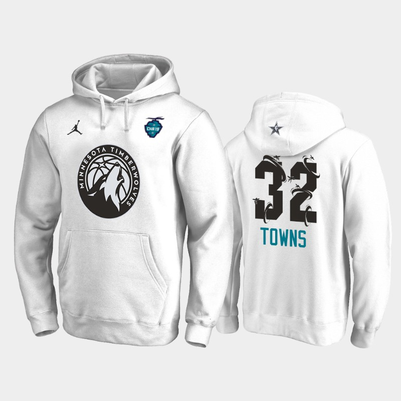 Karl-Anthony Towns 2019 All-Star The Buzz Side Sweep Pullover Hoodie - White