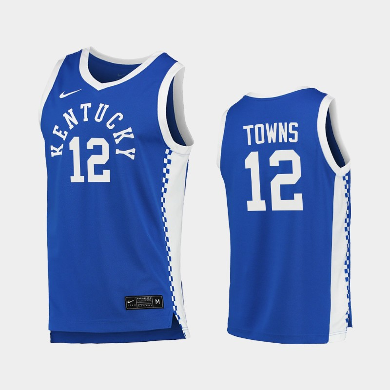 Karl-Anthony Towns Kentucky Wildcats 2020-21 College Basketball NCAA Jersey Blue