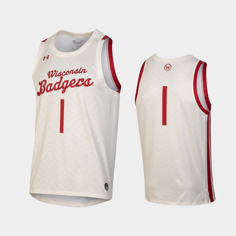 Custom Wisconsin Badgers Throwback College Basketball Jersey White