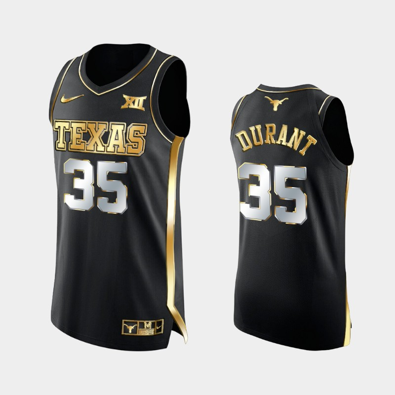 Kevin Durant Texas Longhorns 2021 March Madness Golden Authentic Jersey Black