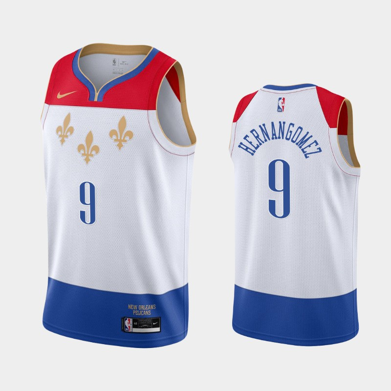 New Orleans Pelicans Willy Hernangomez 2020-21 City Jersey - White