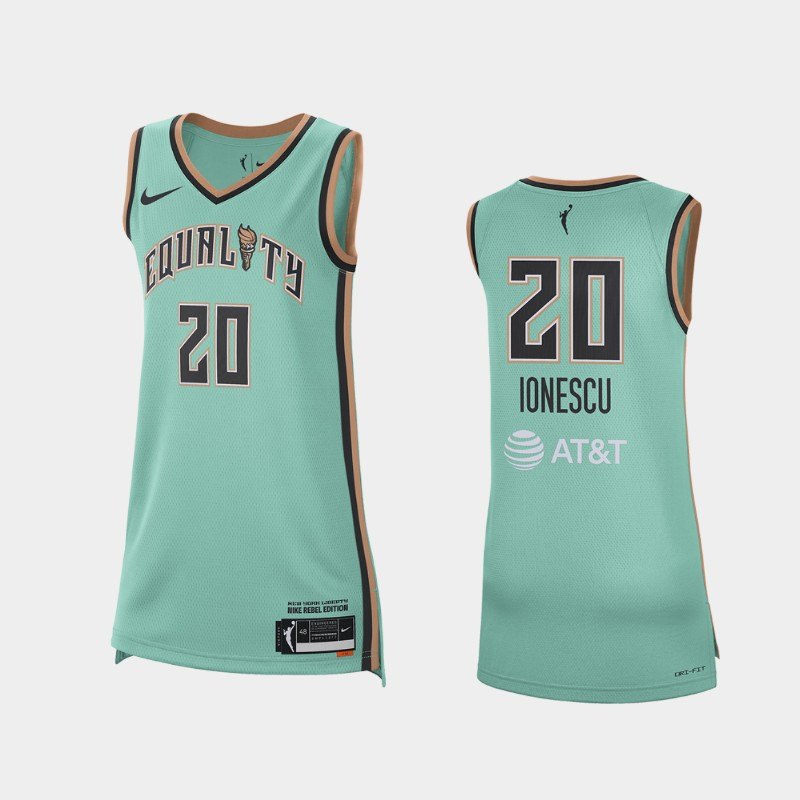 New York Liberty Sabrina Ionescu WNBA 2021 Rebel Edition Victory Jersey - Teal