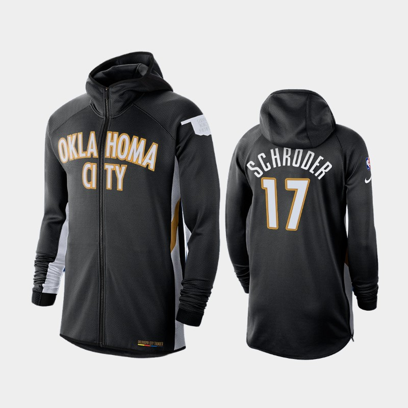 Oklahoma City Thunder Dennis Schroder Earned Edition Showtime Full-Zip Hoodie - Black