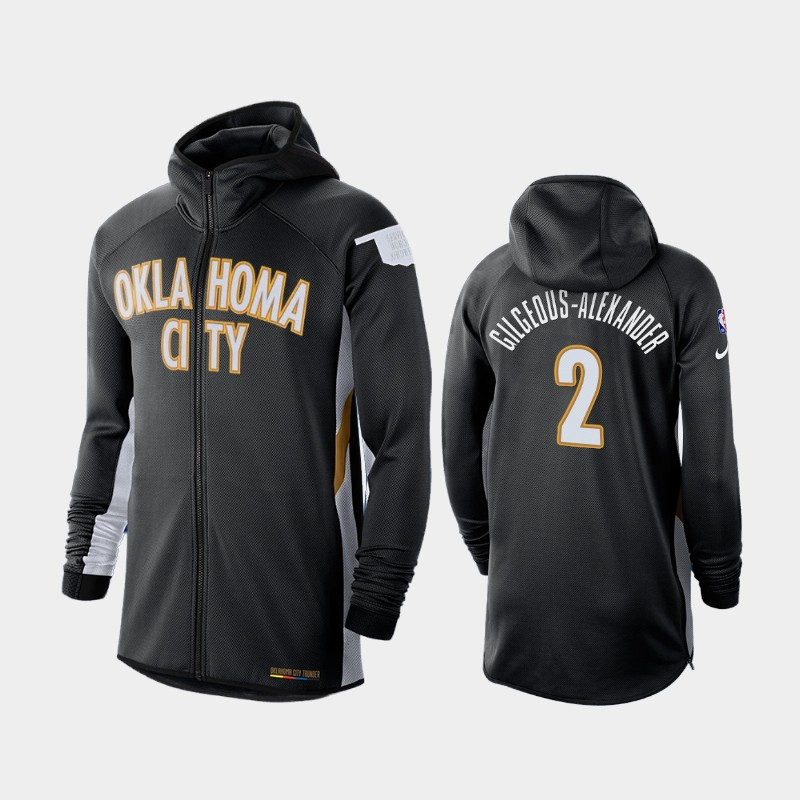 Oklahoma City Thunder Shai Gilgeous-Alexander Earned Edition Showtime Full-Zip Hoodie - Black