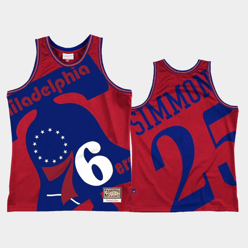 76ers Ben Simmons Blown Out Red Jersey