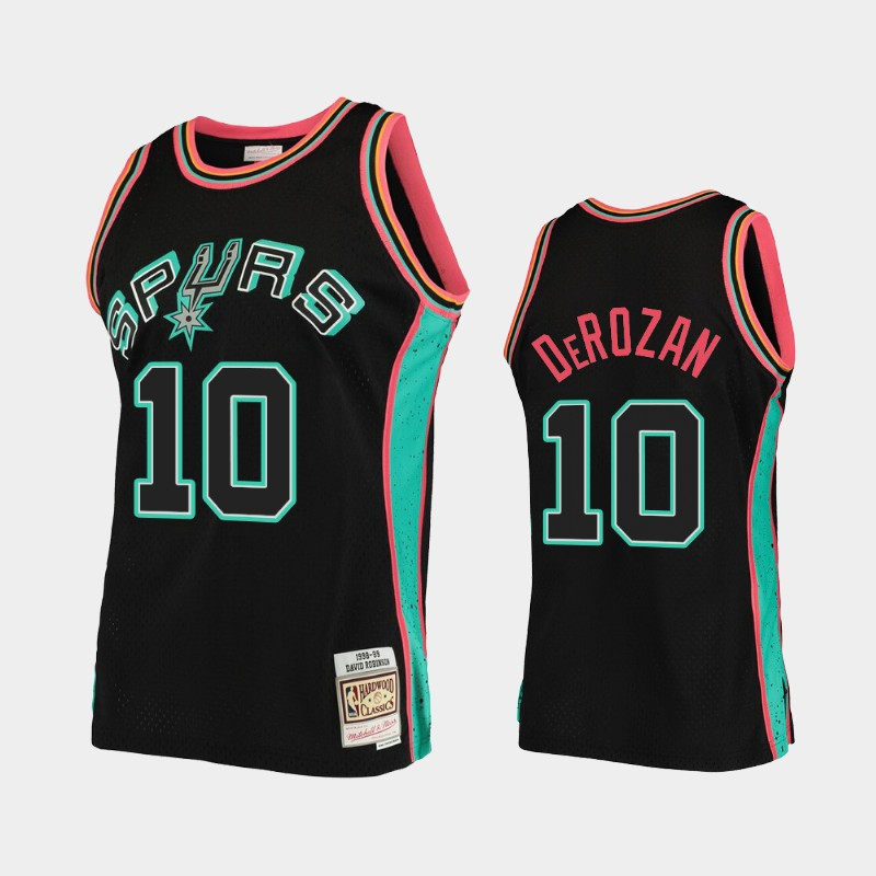 San Antonio Spurs DeMar DeRozan Rings Black Collection Jersey