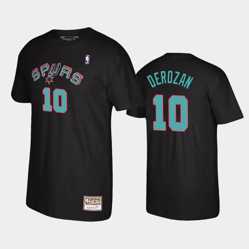 DeMar DeRozan San Antonio Spurs Black Reload Name & Number T-Shirt