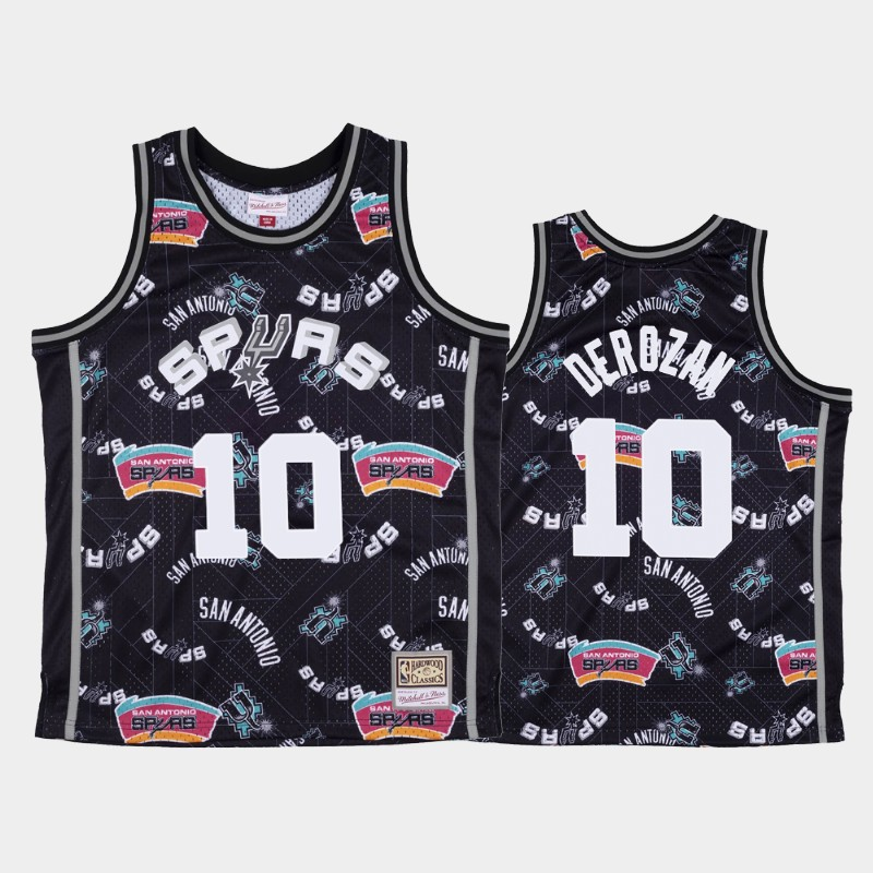 DeMar DeRozan San Antonio Spurs Tear Up Pack Black Hardwood Classics Jersey