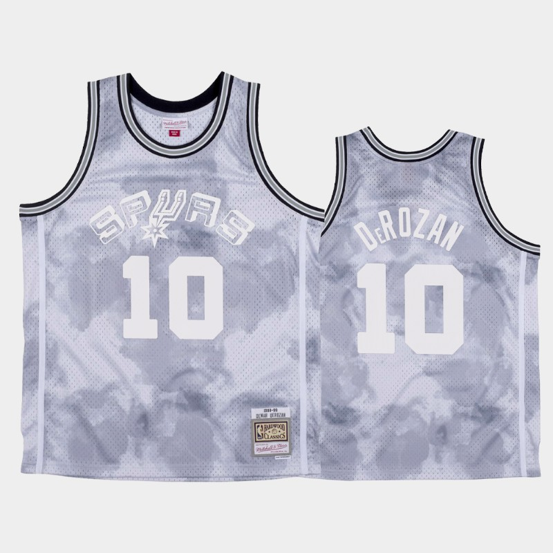NBA Spurs DeMar DeRozan 1998-99 Cloudy Skies Hardwood Classics Jersey White