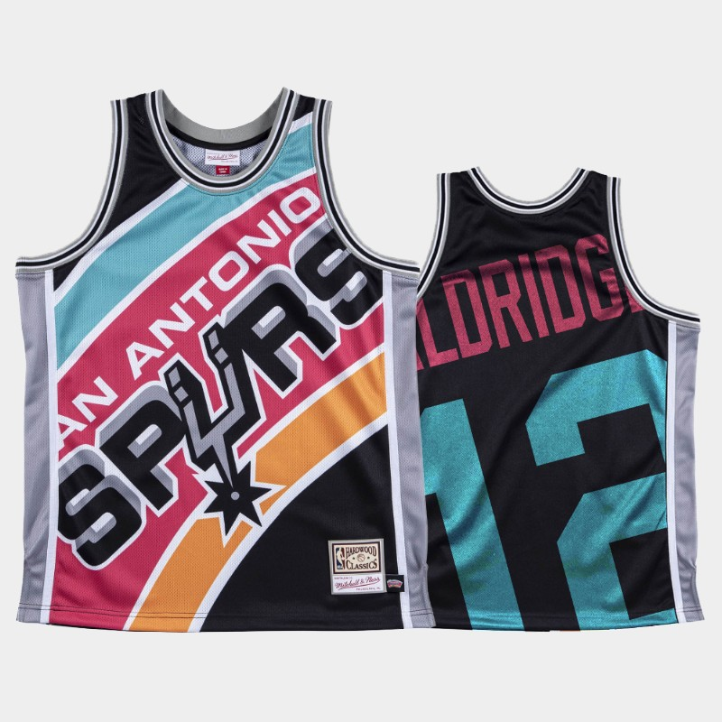NBA Spurs LaMarcus Aldridge Big Face Black Jersey
