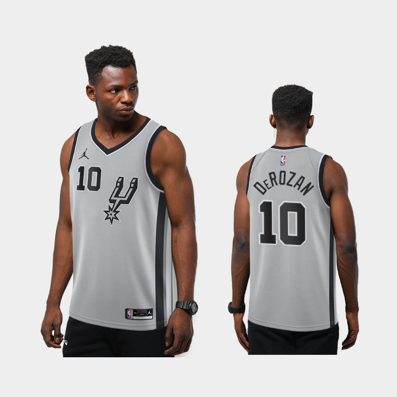 San Antonio Spurs DeMar DeRozan 2020-21 Statement New Season Jersey - Silver
