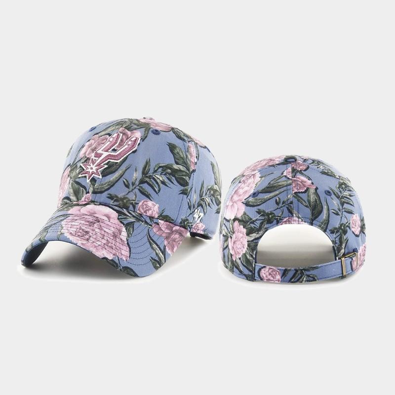 Floral Fashion Spurs Blue Hat Peony Clean Up