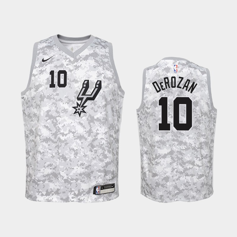 DeMar DeRozan San Antonio Spurs Camo Earned Jersey - Youth