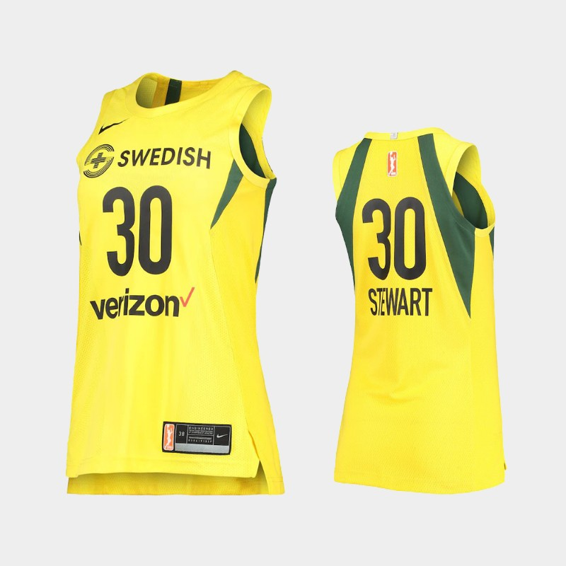 Seattle Storm Breanna Stewart Authentic Player Jersey - Yellow