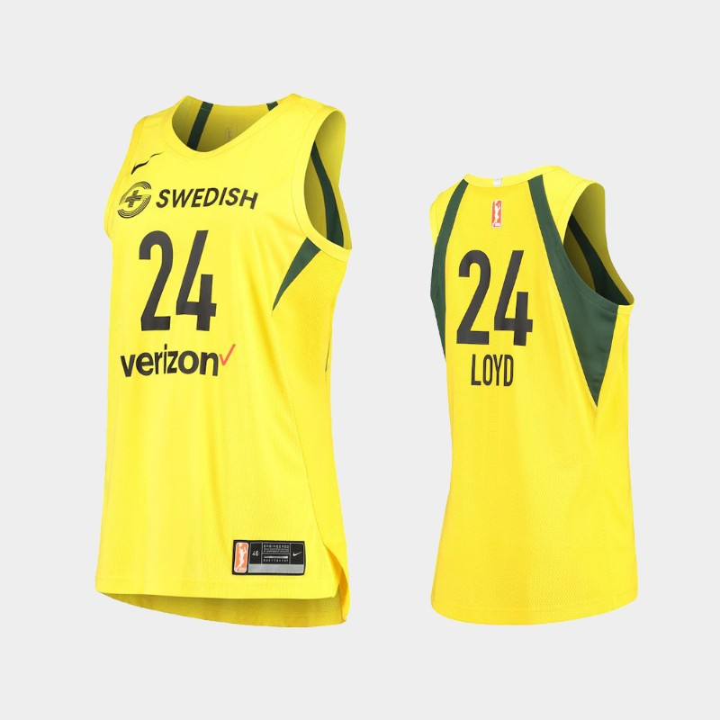 Seattle Storm Jewell Loyd Authentic Player Jersey - Yellow