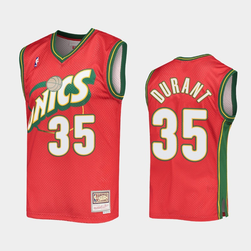 Seattle SuperSonics Kevin Durant Hardwood Classics Red Authentic Jersey