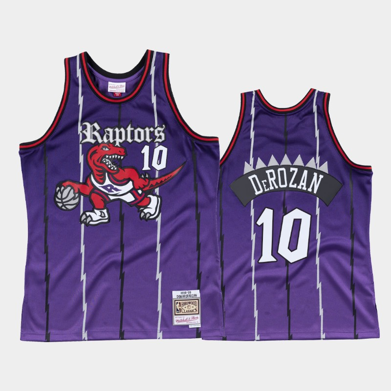 Toronto Raptors DeMar DeRozan Old English Purple Faded Jersey