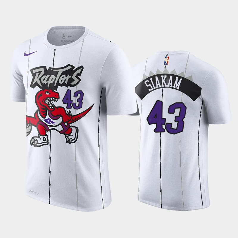 Toronto Raptors Pascal Siakam 25th Season White Classic T-Shirt