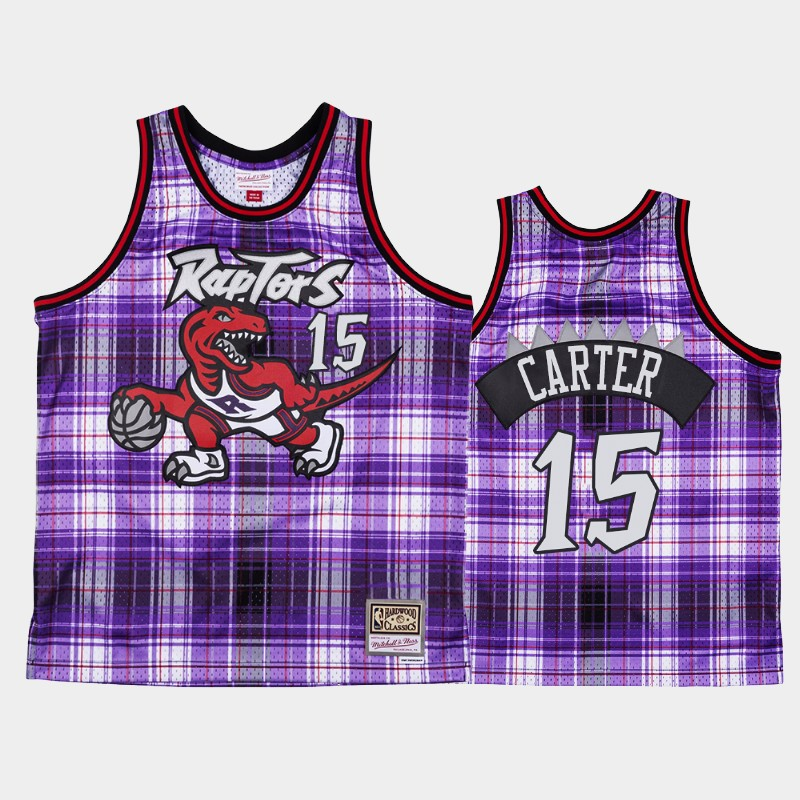 Toronto Raptors Vince Carter Private School Purple Hardwood Classics Jersey