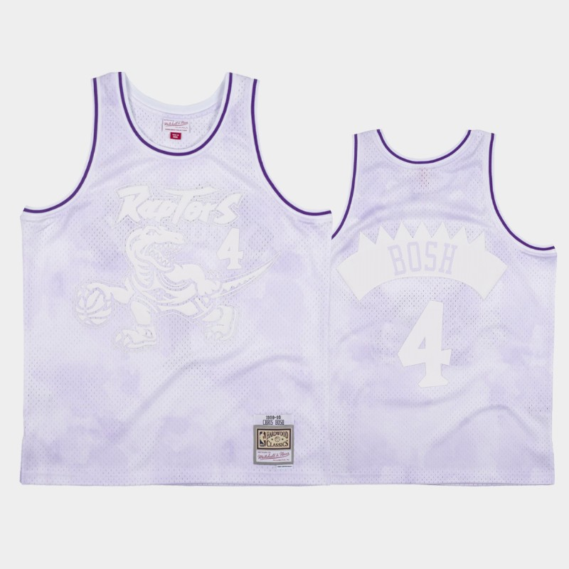 NBA Raptors Chris Bosh 1998-99 Cloudy Skies Hardwood Classics Jersey White