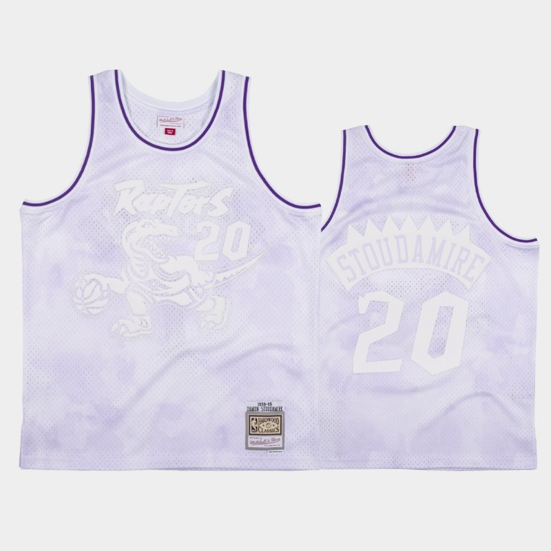 NBA Raptors Damon Stoudamire 1998-99 Cloudy Skies Hardwood Classics Jersey White