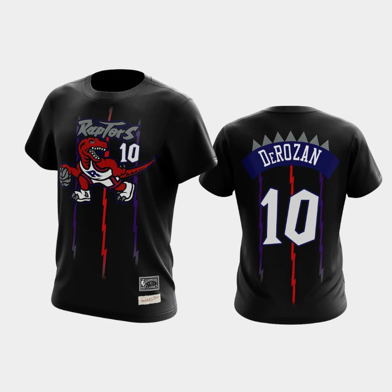 DeMar DeRozan Toronto Raptors Black Reload Name & Number T-Shirt