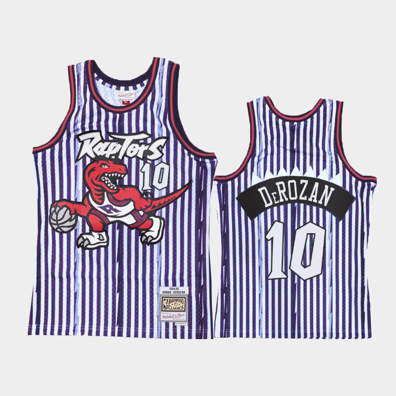 DeMar DeRozan Toronto Raptors Striped HWC Jersey