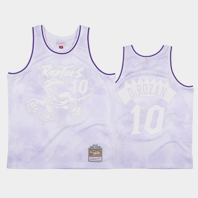 NBA Raptors DeMar DeRozan 1998-99 Cloudy Skies Hardwood Classics Jersey White