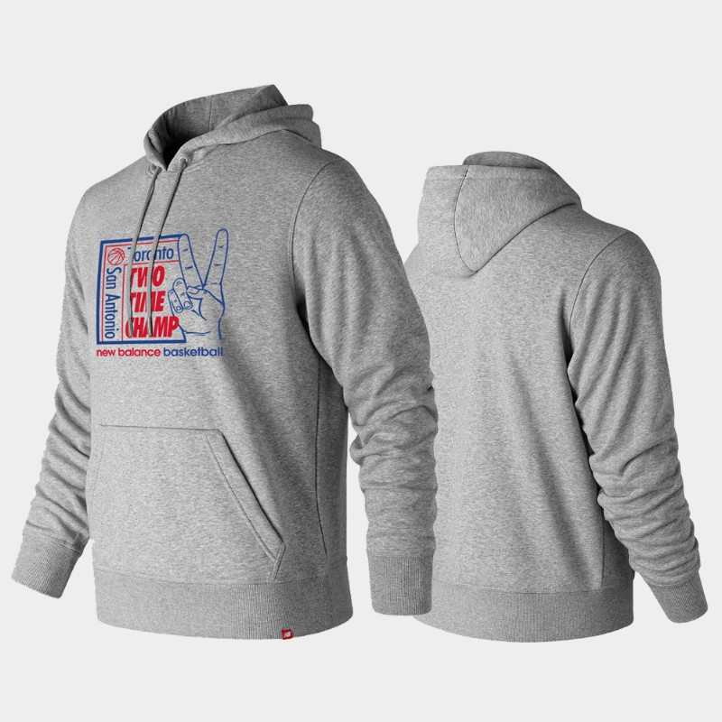 Toronto Raptors Kawhi Leonard Two Time Champion Pullover Hoodie - Gray