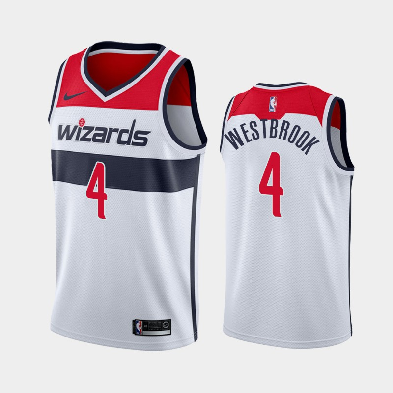 Washington Wizards Russell Westbrook 2020-21 Association 2020 Trade Jersey - White