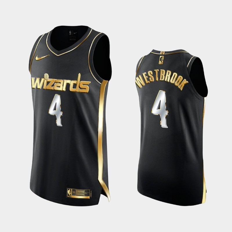 Authentic Limited Washington Wizards Russell Westbrook Golden Edition Jersey - Black