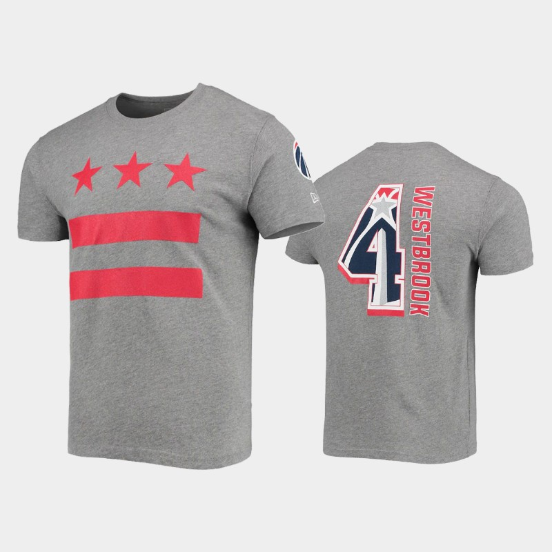 Russell Westbrook Washington Wizards Heathered Gray 2021 City Edition Player T-Shirt