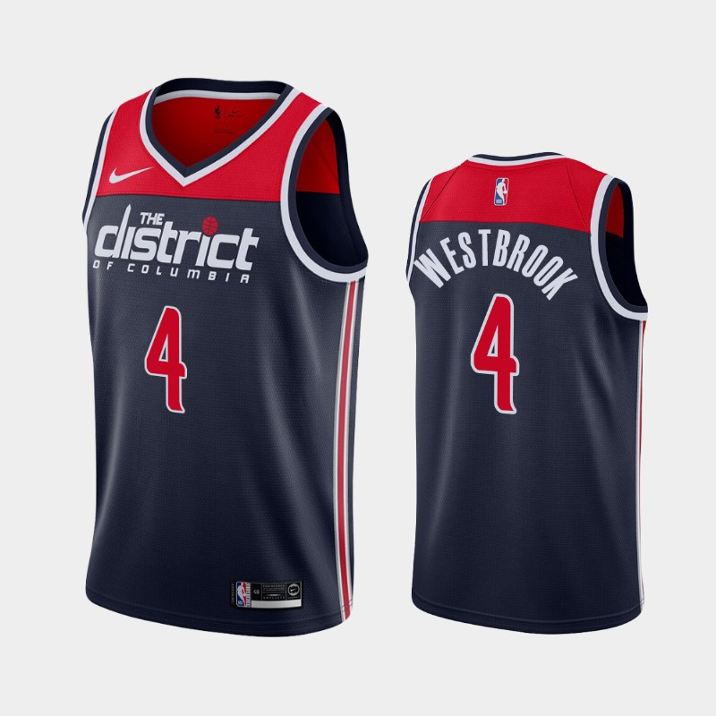 Washington Wizards Russell Westbrook 2020-21 Statement 2020 Trade Jersey - Navy