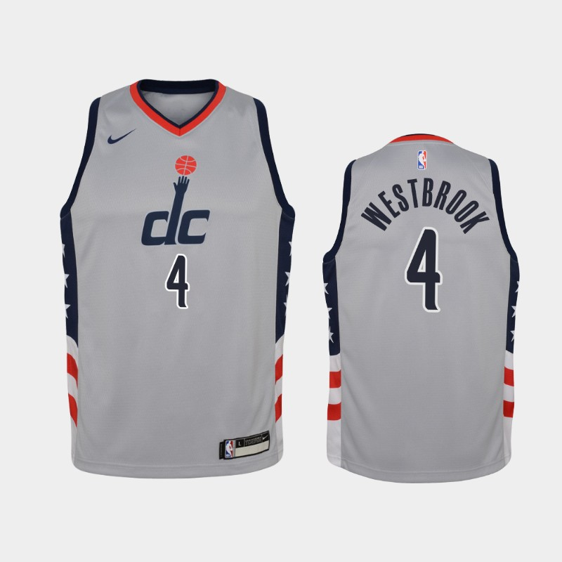 Youth 2020-21 Wizards Russell Westbrook City Gray Jersey