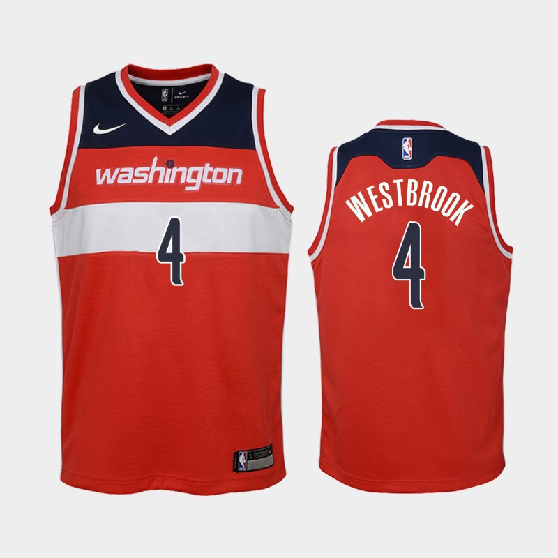 Youth 2020-21 Wizards Russell Westbrook Icon Red 2020 Trade Jersey